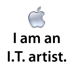 I Am An I.T. Artist - Button